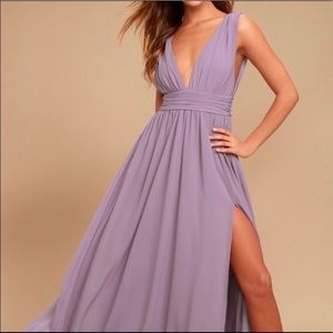 Lulus heavenly hues dusty purple maxi dress
